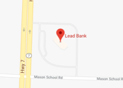 Map view of Lead Bank community bank in Lee